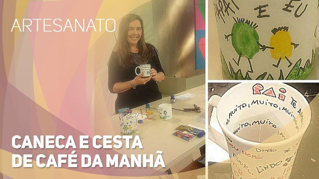 Artesanato - Caneca e cesta de café da manhã (28.07.2015)