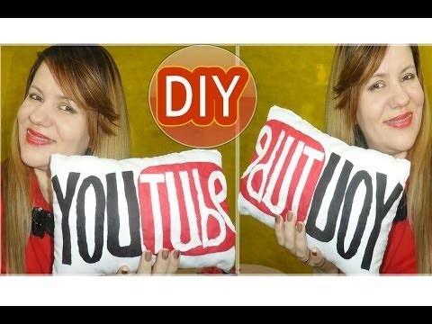 ✄ DIY | Como Fazer Almofada Personalizada YouTube