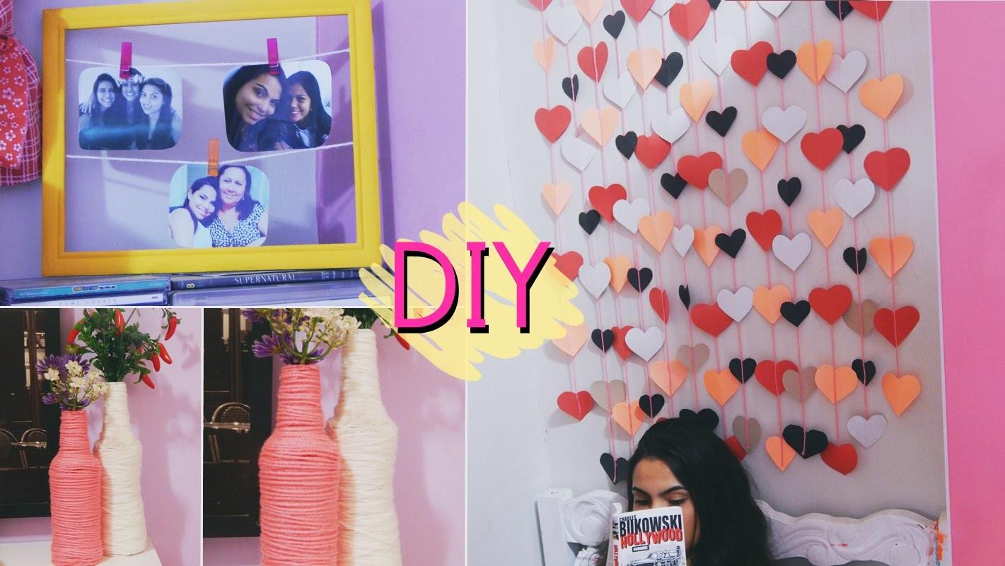 DIY: Cortinha de corações, garrafa e moldura. ideas decor #Veda9 | Andressa Moraes