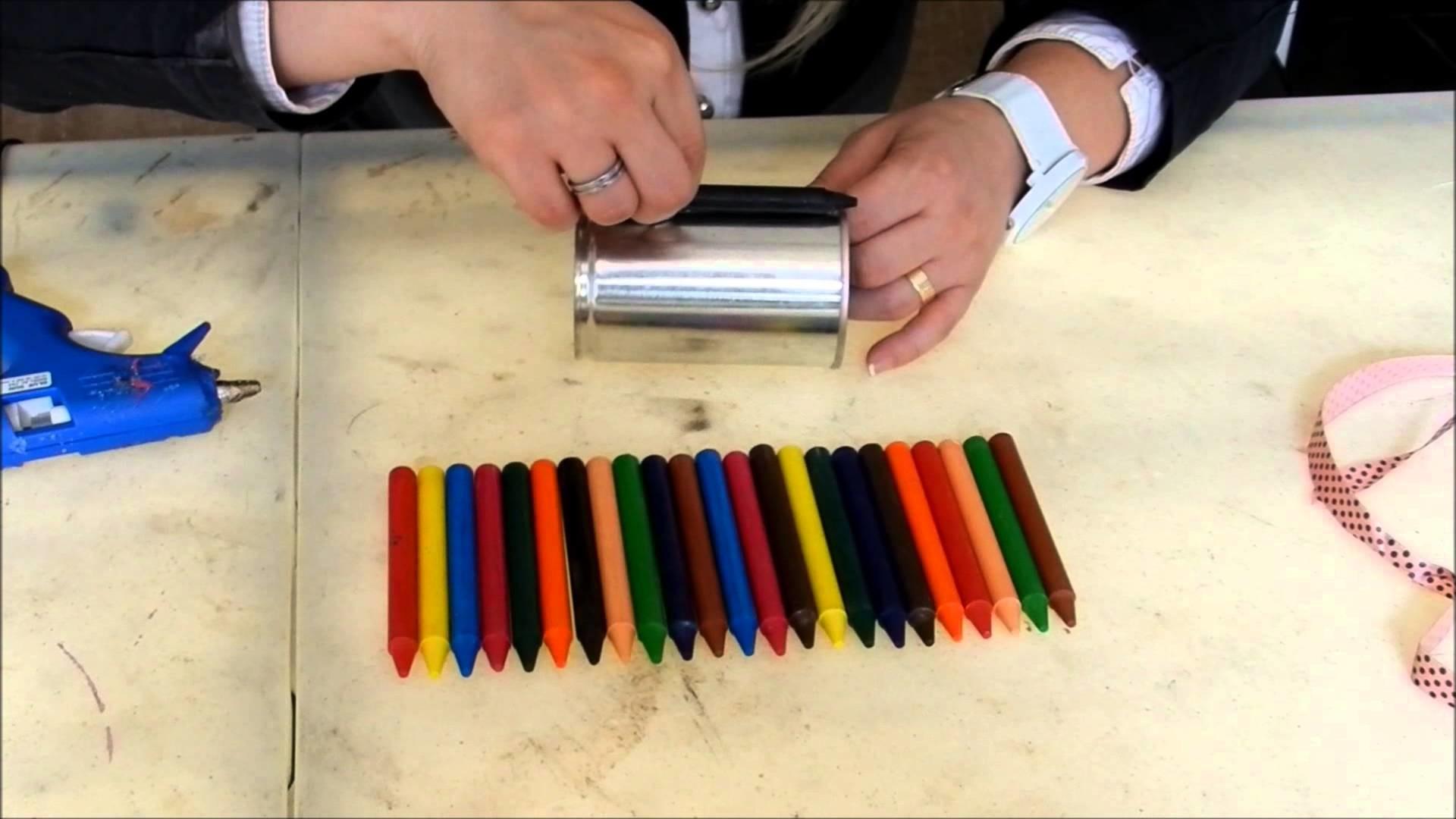 Diy: Porta Lápis com Giz de Cera