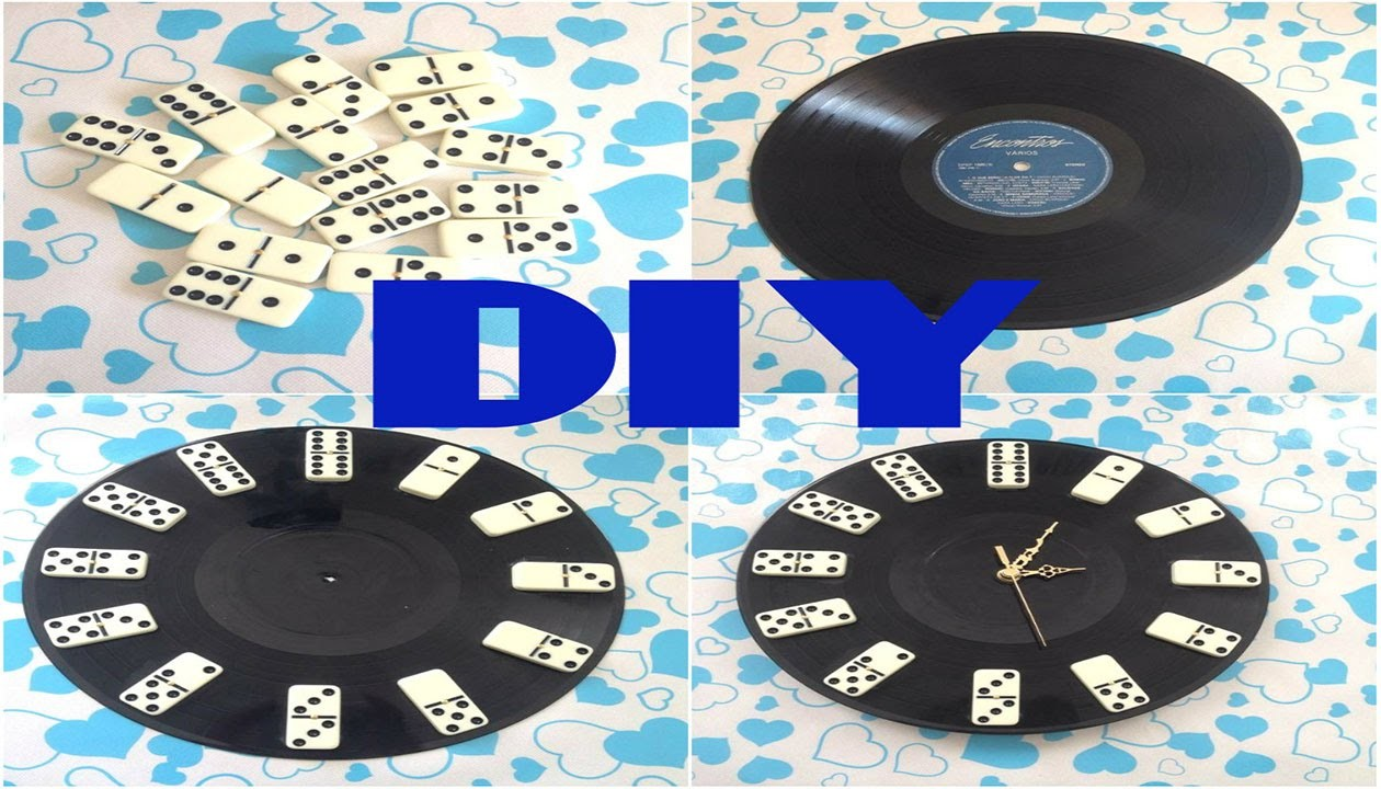 DIY - Relógio com Disco de Vinil e Dominó | Especial Dia dos Pais #2