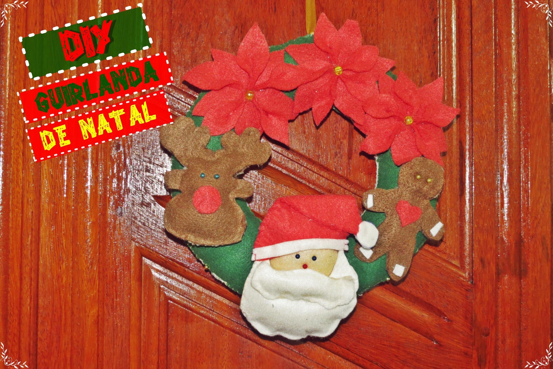 Especial de Natal- Diy Guirlanda de Natal feita a mão super fácil | Andreza Farias