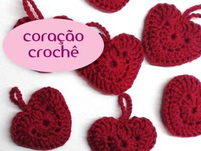 Como fazer coração em crochê