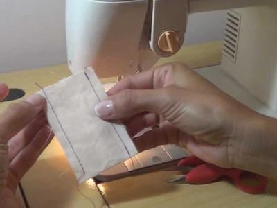 Como fazer o retrocesso no inicio e final da costura.