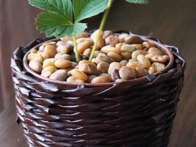 Como fazer vaso pequeno com jornal