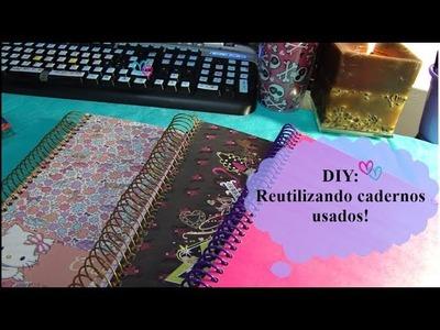 DIY: Reutilizando cadernos antigos!