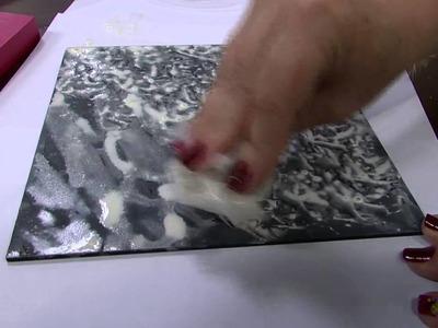Mulher.com - 03.02.2016 - Pintura decorativa em mdf, tema granito - Ana Gomes  PT1