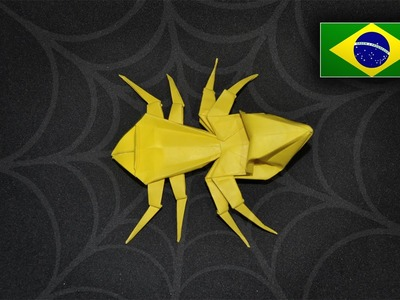Origami: Aranha - Instruções em Português PT BR