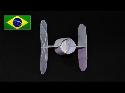 Origami: Nave Star Wars. Tie Fighter - Instruções em Português PT BR