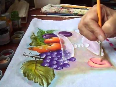 Pintura de Transparência e pêssego