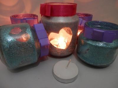 Porta velas reciclado - Como fazer!