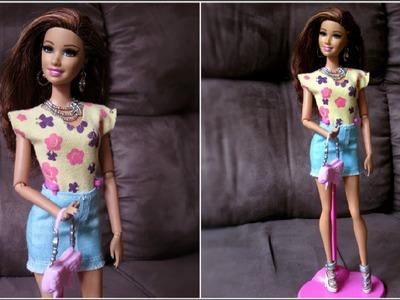 #2 Como Fazer Blusa sem Manga para Barbie