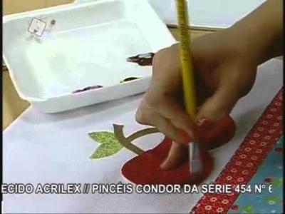 Ateliê na TV - Bate-mão com Aplicação de Cerejas - Priscila Muller