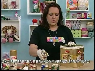 Colorgin no Ateliê na TV - Latas decoradas