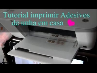 Como fazer adesivo de unha na impressora em casa