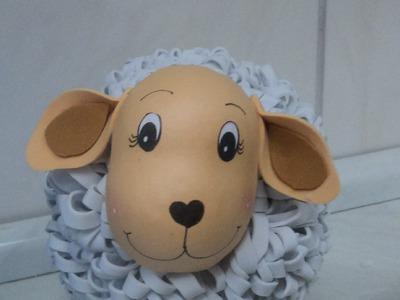 Como fazer ovelhinha em eva 3d