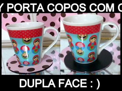 COMO FAZER PORTA COPOS COM CDS