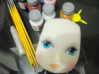 Como pintar rosto de boneca de pano.Как рисовать лицо тряпичная кукла в