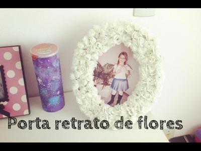 Decoração de quartos: porta retrato de florzinhas - Faça você mesma!