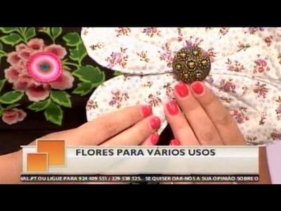 Flores em Tecido para Vários Fins - Costura com Riera Alta