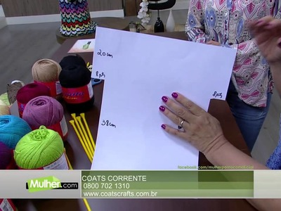 Mulher.com - 23.11.2015 - Blusa colorida em tricô - Vitória Quintal PT1