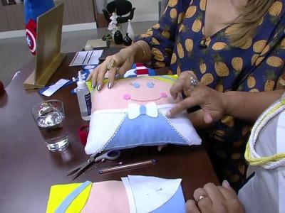 Mulher.com - 26.08.2015 - Almofada infantil, Cinderela e Capitão América - Regina Macao PT2