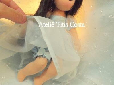 Passo a passo boneca de pano com Titis Costa