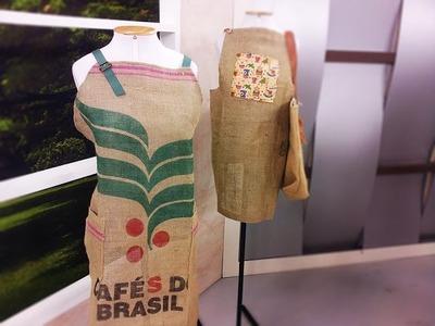 Programa Arte Brasil - 29.03.2016 - Maria del Carmem - Avental Sacaria de Café