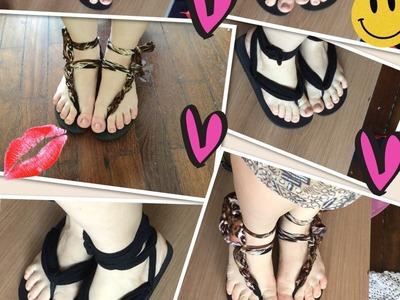 Transformando um chinelo em várias sandalhas