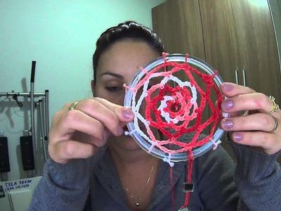 Apanhador de Sonhos de Crochê (DREAMCATCHER)