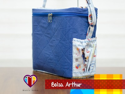 Bolsa infantil de tecido Arthur - Maria Adna Ateliê - Aulas, bolsas e projetos de bolsas de tecido