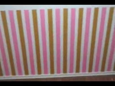 Como Pintar Listras em quarto de Bebê - Parte 05
