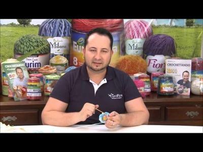 Crochetando com EuroRoma e Marcelo Nunes - Flor Dormideira