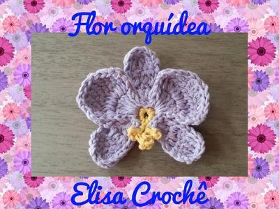 Flor para aplicar em tapete # Elisa Crochê