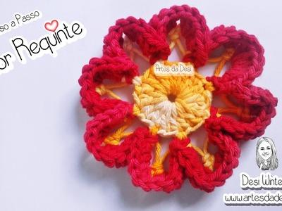 Flor Requinte de Crochê