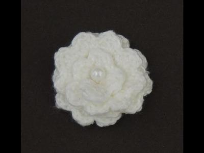 Flores de crochê - Flor de crochê Básica Modelo 3