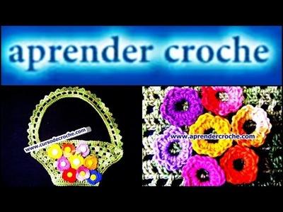 FLORES EM CROCHE MINI ROSAS - 004