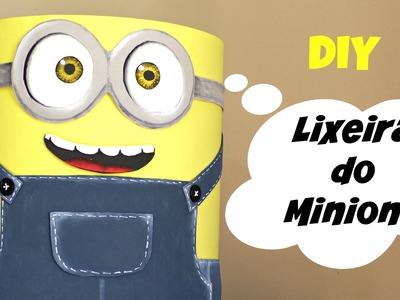 LIXEIRA DO MINIONS - Artesanato DIY do Compartilhando Arte - Transforme Lixo em Luxo!!