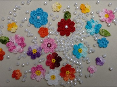 Mini Flor de Crochê Para Aplicação 1.5cm