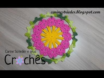 Motivo Circular de Crochê nº 01 por Carine Strieder