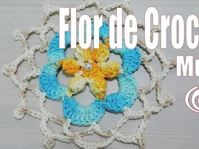 Motivo de Crochê Flor Multi