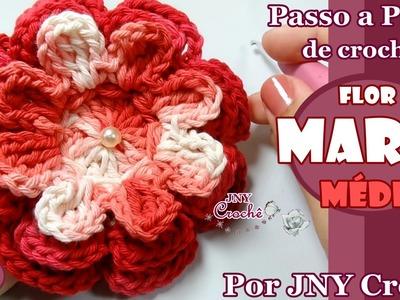 PAP de crochê Flor Maria (média) por JNY Crochê