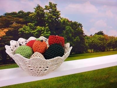 Programa Arte Brasil - 22.01.2016 - Carmem Freire - Fruteira em crochê Endurecido