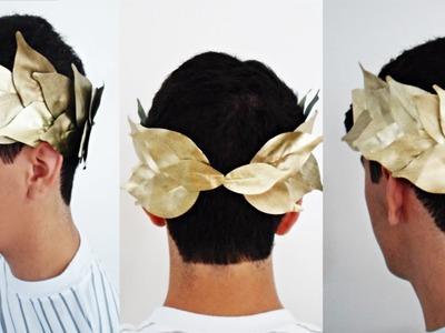 Aprenda a fazer coroa de louros - carnaval.halloween.festa à fantasia