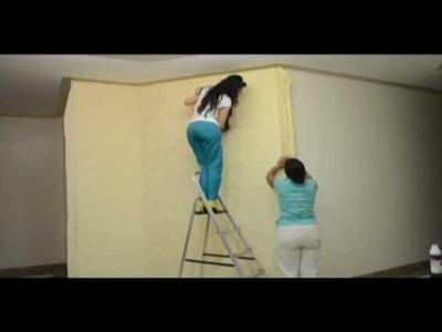Como aplicar tecido em parede
