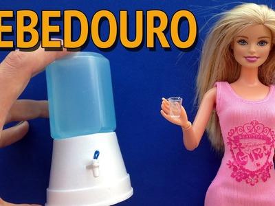 Como fazer Bebedouro.Filtro de Água para Barbie e outras Bonecas!