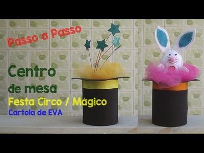 Como fazer: Cartola de Mágico - Centro de Mesa festa Circo