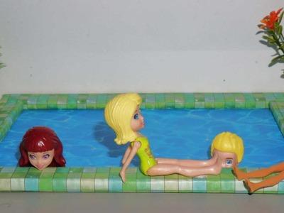 Como fazer piscina para casa de bonecas Barbie e outras