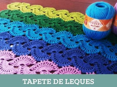 Criações em Crochê: Tapete de Leques | Luciana Ponzo