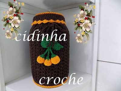 Croche -Capa Para Decorar Pote- Passo A Passo- Parte 2-  Final